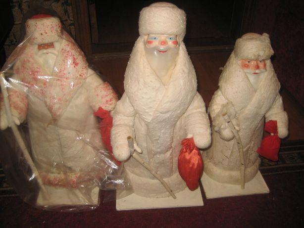 Дед Мороз и Снегурочка новогодний аксессуар ссср, за 1шт, торг