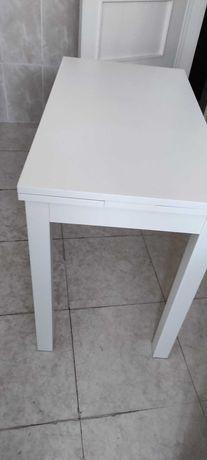 Mesa de cozinha extensivel branca