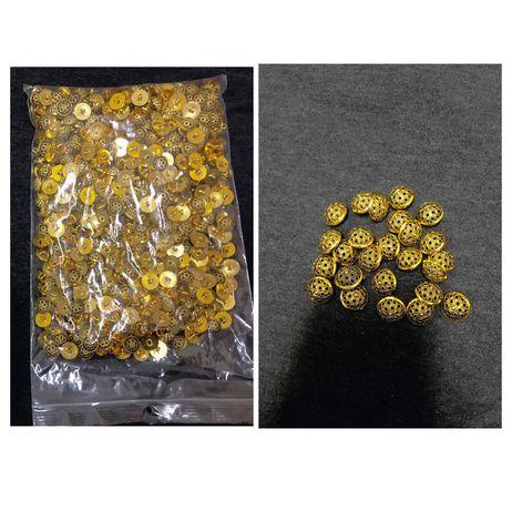 Botões dourados redondos - 680 unidades - 0,10€ cada *