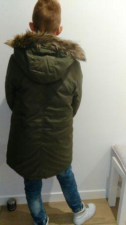 Kurtka zimowa alaska z futrem H&M 152