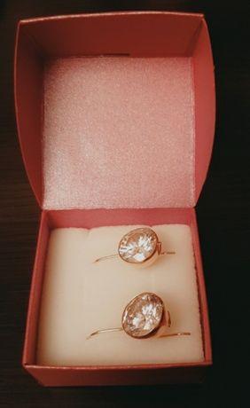 Kolczyki z 14-karatowego złota, waga: 8,52 g