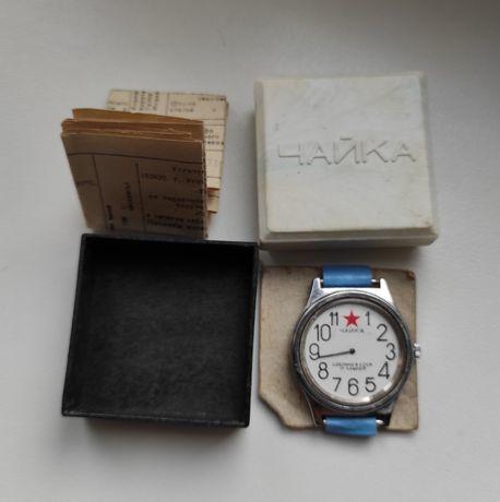 часы Чайка СССР комплект Secoda военные Swiss made