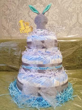 Торт с памперсов, торт з підгузників