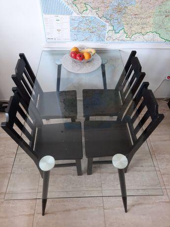 Sprzedam stół szklany + 4 krzesła