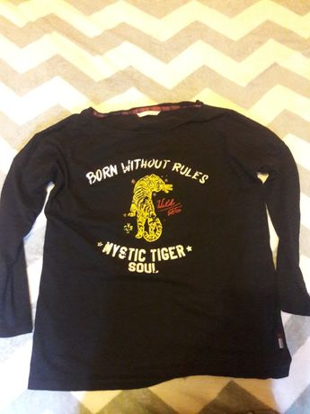 Bluzka diverse damska vintage koszulka z długim rękawem