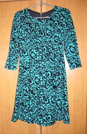 Бирюзовое платье TRG р.М (44-46)