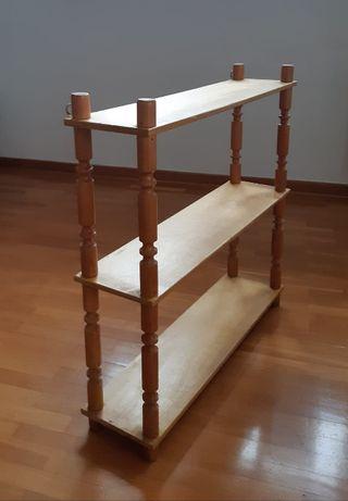 Półka drewniana do zawieszenia lub postawienia. PRL