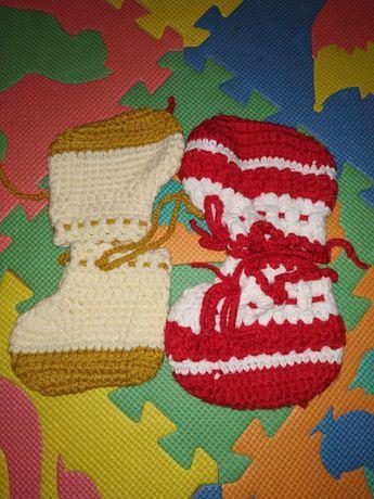 Пинетки тапочки носочки вязанные шерстяные зимние теплые