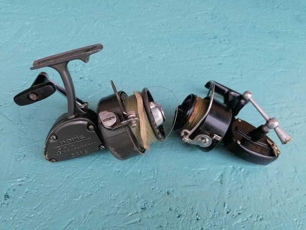 Carretos de pesca antigos, funcionais