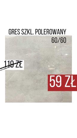 Płytki Gres Poler 60x60 Epoxy Space Manhattan Cemento Grys REKT GAT1