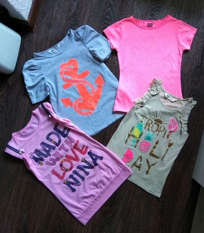 Яркая футболка YD, майка H&M, туника для девочки