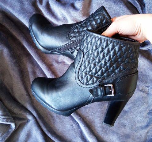 Botki damskie czarne 39