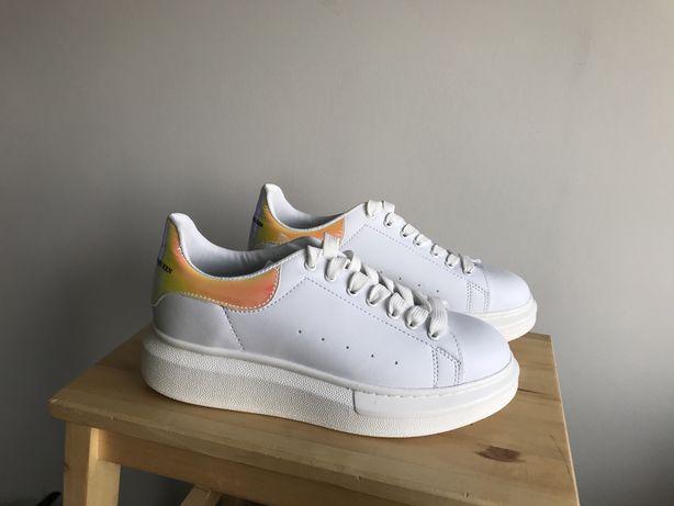 NOWE designerskie sneakersy by Aleksander buty sportowe na platformie