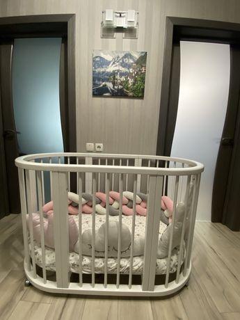Овальная кроватка 7 в 1 angels dreams аналог Stokke Sleepi с матрасами
