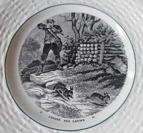 Sarreguemines Francja talerzyk francuska porcelana