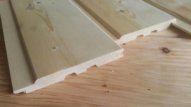 Podbitka dachowa klasa A świerk skandynawski 14x121 mm boazeria sauna