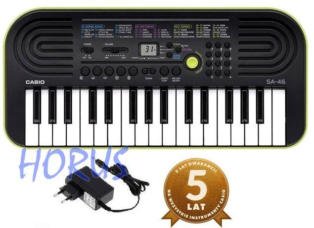 Keyboard Casio SA46 idealny dla dziecka, ZASILACZ NOWY SKLEP WYSYŁKA