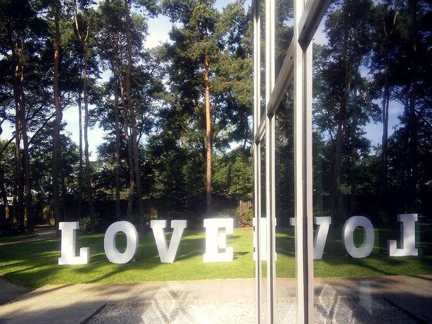 Napis LOVE 120cm zmiana kolorów, 70cm żarówki Jarocin Ostrów Krotoszyn