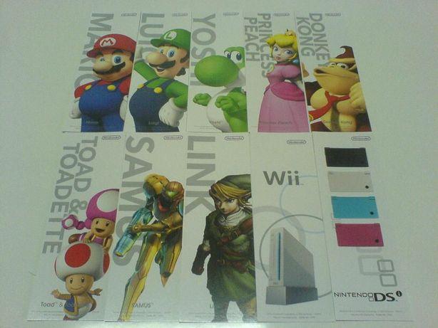 Conjunto Marcadores Livros - Novos - Merchandising Wii Nintendo DS