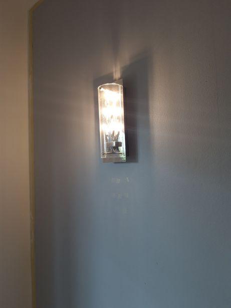 srebrny kinkiet LED Wofi 2 szt.