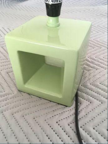 Candeeiro de secretária/quarto verde antigo - Vintage