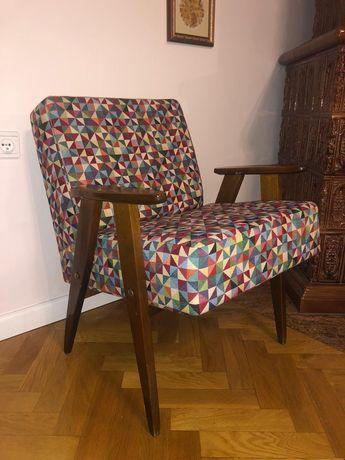 2x fotele PRL, nowa tapicerka, loft, cena za parę