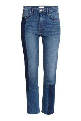 jeansy dżinsy patchwork h&m 36