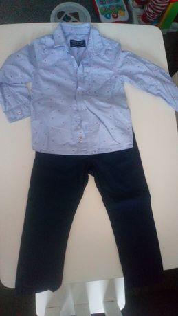Elegancki komplet Mayoral - koszula i spodnie taliowane, rozmiar 92