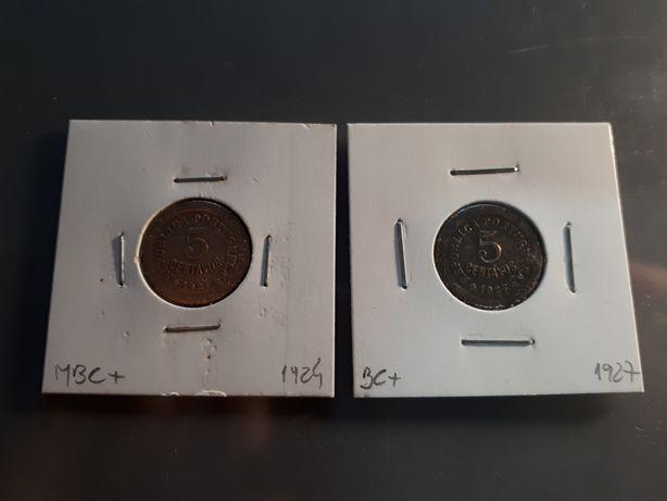 Moedas 5 Centavos 1927