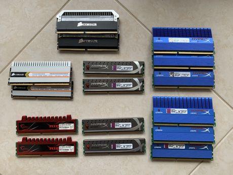 Memórias DDR3 1333 a 2000 HyperX, Corsair, GSkill