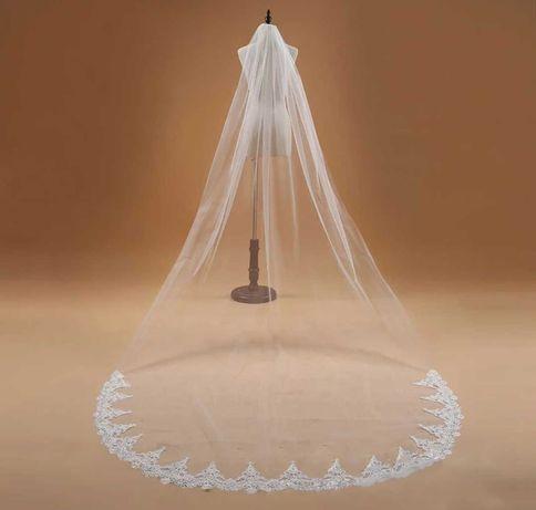 Vestido de noiva e véu novo .