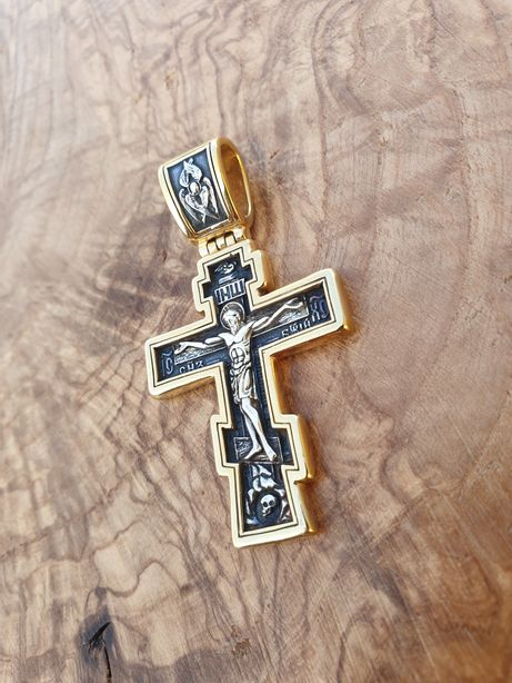 Акимов крест Акимовский крест Крест серебро Распятием Серебряный крест