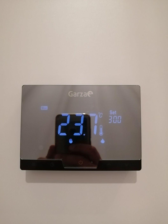 Garza smart home termostato inteligente preto