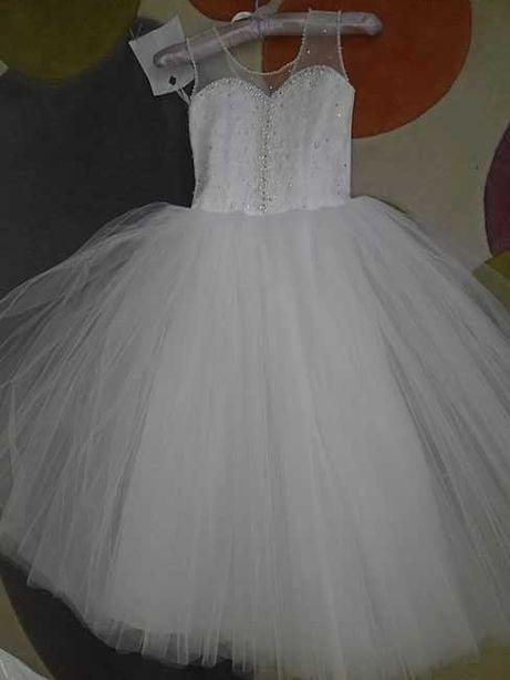 Платье  на выпускной для девочки ростом 128/134см
