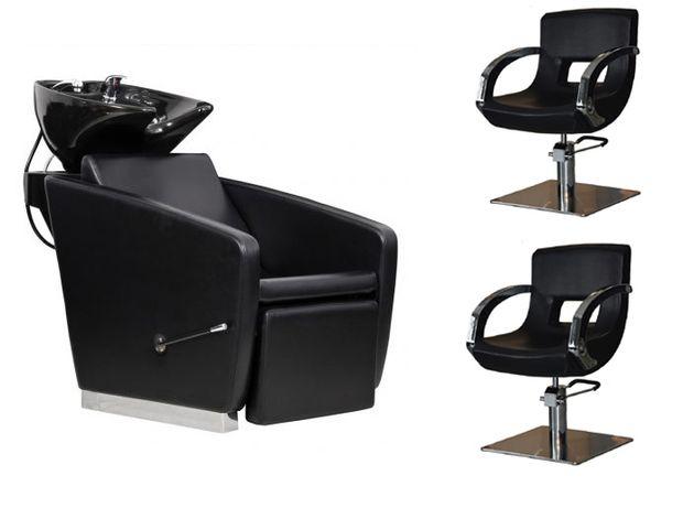 Zestaw mebli 2x fotele fryzjerskie Taormina i Myjnia fryzjerska Vasto