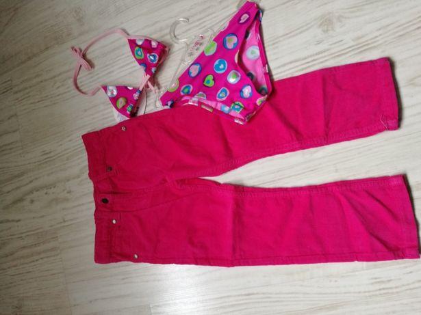 Spodnie sztruksy lupilu 104 gratis strój kąpielowy