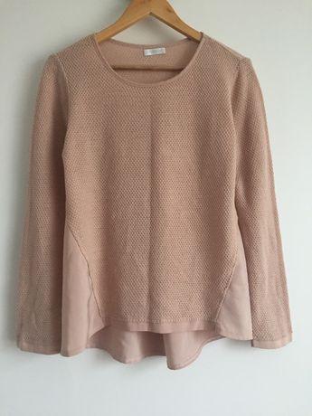 promod sweter bluzka pudrowa różowa 38-40 M-L Promod wstawki
