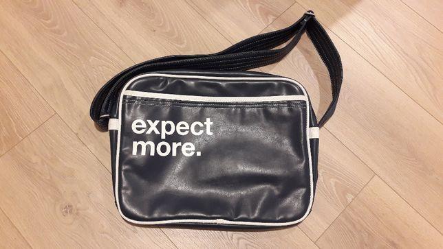 Torba na ramię Expect More. - na laptop/podróż do szkoły/pracy [Nowa]