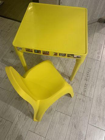 Стол стул пластиковый детский