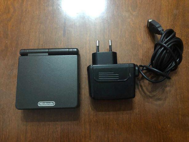 Gameboy Advance SP (Black Edition) + Carregador Oficial