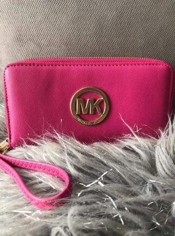 Portfel MK różowy duży