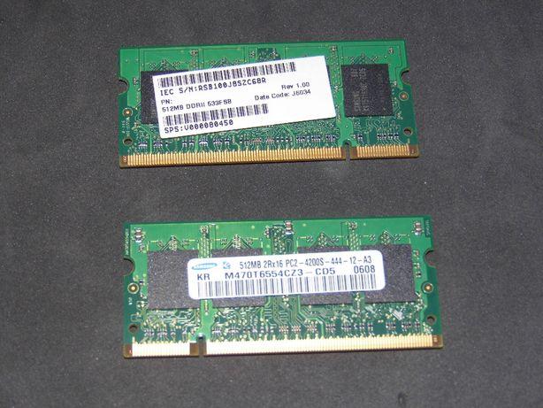 2 memórias marca Samsung 512MB DDR2 533F8B
