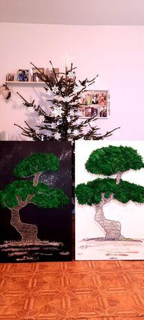 Bonsai / Chrobotek / String Art / duże formaty