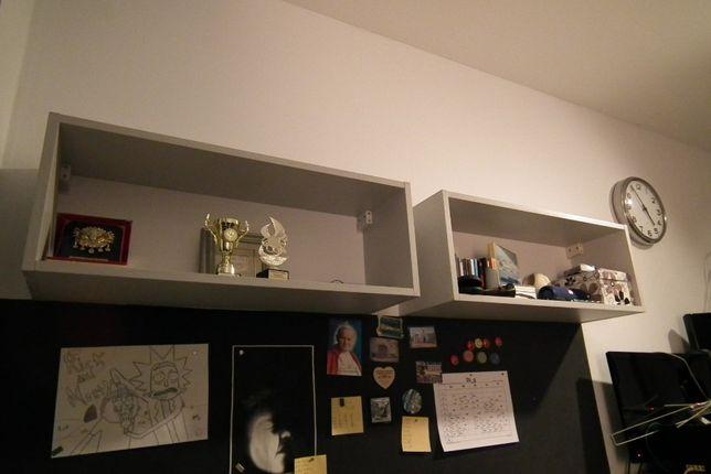 Dwie półki wiszące 80x30x25cm stan bardzo dobry