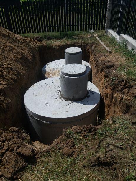 Септик-канализация, выгребная яма,, бетонные кольца,копка ям транше