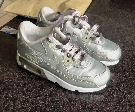 Buty, sneakresy srebrne air max Nike