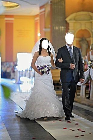 Suknia ślubna z salonu Lisa Ferrera r. 36 biała