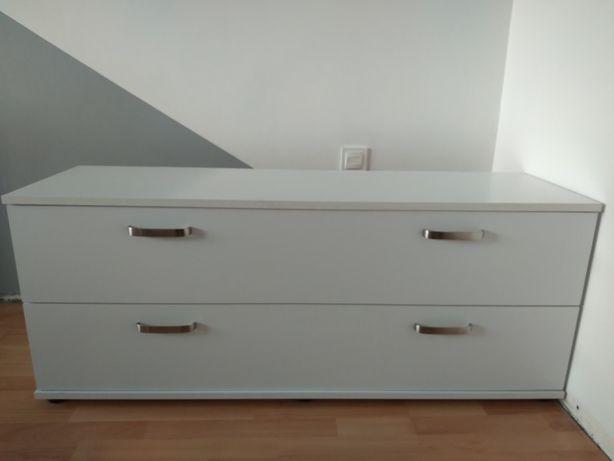 Komoda biała 2 szuflady