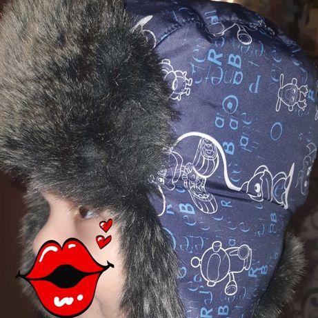 Зимняя термо шапка 52 см