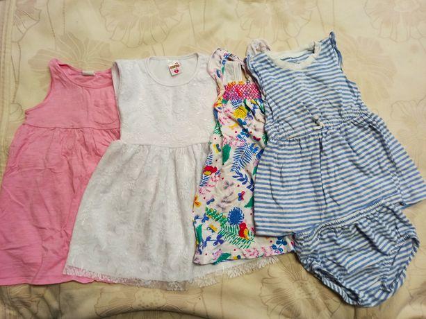 Набор. 4 платья на девочку. Размер 2 года